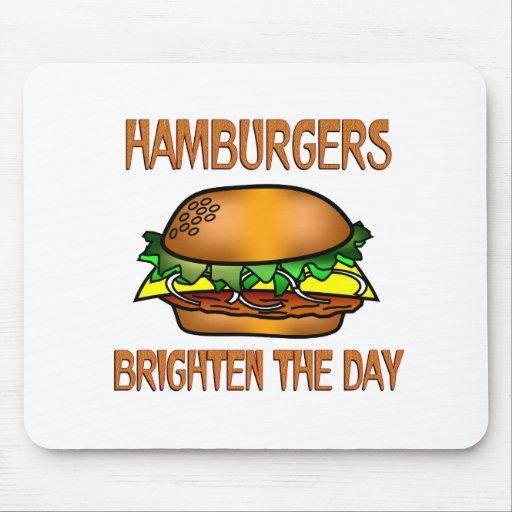 Hamburgers Brighten the Day Mousepads