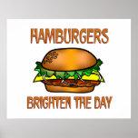 Hamburgers Brighten the Day Print