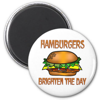 Hamburgers Brighten the Day Refrigerator Magnets