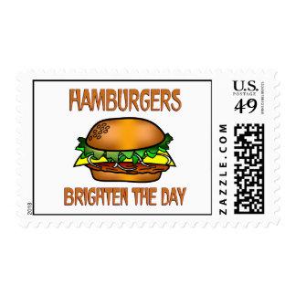 Hamburgers Brighten the Day Stamp