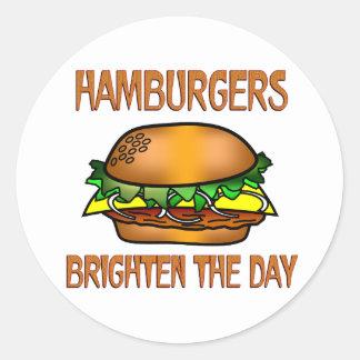 Hamburgers Brighten the Day Sticker