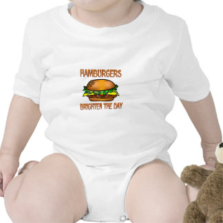 Hamburgers Brighten the Day Tees