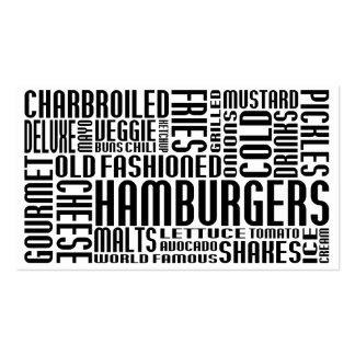 hamburgers (chit chat) business card