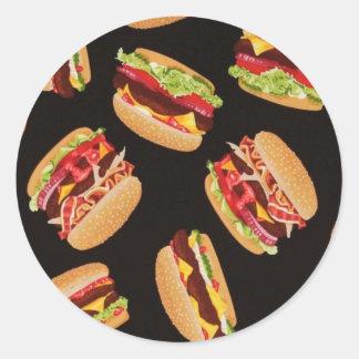Hamburgers Classic Round Sticker