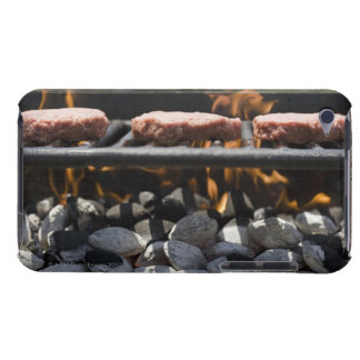 Hamburgers cooking on grill barely there iPod case
