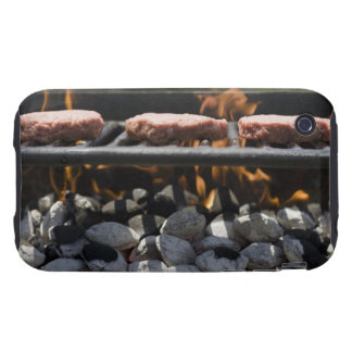Hamburgers cooking on grill tough iPhone 3 cover