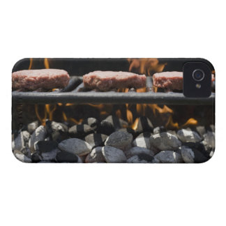 Hamburgers cooking on grill iPhone 4 Case-Mate case