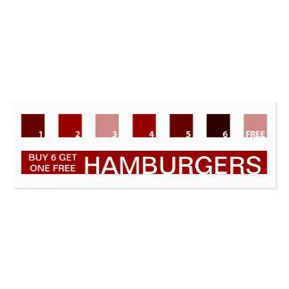 HAMBURGERS customer appreciation (mod squares) Business Card Template