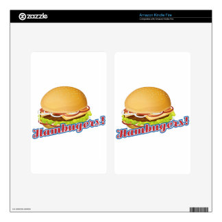 Hamburgers Kindle Fire Decal