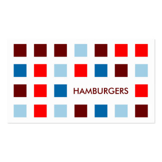 HAMBURGERS (mod squares) Business Card