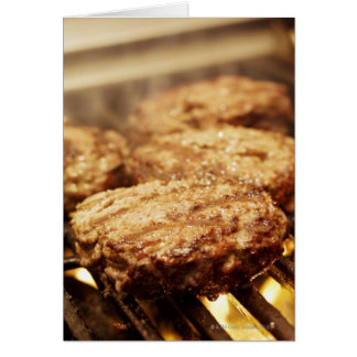 Hamburgers on the Grill Card