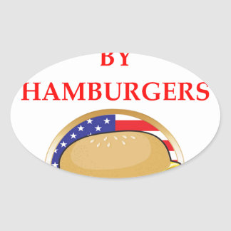 HAMBURGERS OVAL STICKER