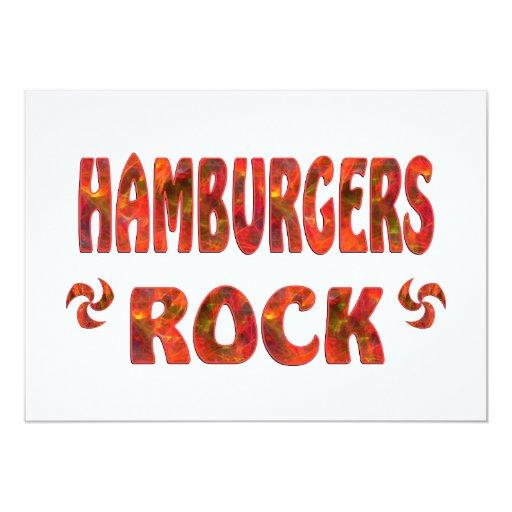 """HAMBURGERS ROCK 5"""" X 7"""" INVITATION CARD"""