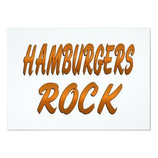 HAMBURGERS ROCK CARD