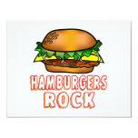 Hamburgers Rock Custom Invite