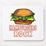 Hamburgers Rock Mouse Pad