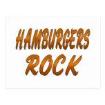 HAMBURGERS ROCK POSTCARD