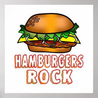 Hamburgers Rock Poster