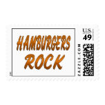 HAMBURGERS ROCK STAMP