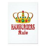HAMBURGERS RULE 5X7 PAPER INVITATION CARD