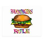 Hamburgers Rule Postcard