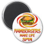 Hamburgers Spin Magnets