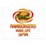 Hamburgers Spin Post Card