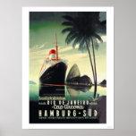 Hamburgo a Río de Janeiro en el casquillo Arcona Impresiones