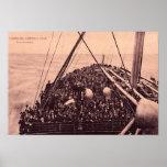 Hamburgo Amerika Linie, emigrantes 1910 de Auswand Impresiones