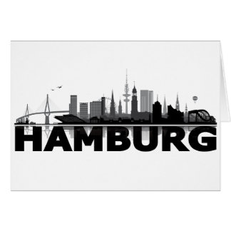Hamburgo City horizonte tarjeta
