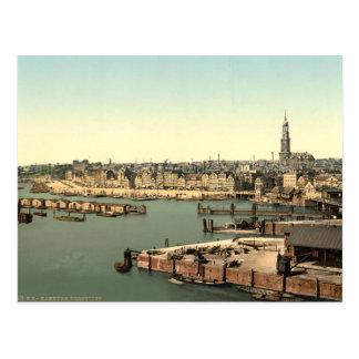 Hamburgo de la torre del reloj, Alemania Tarjetas Postales