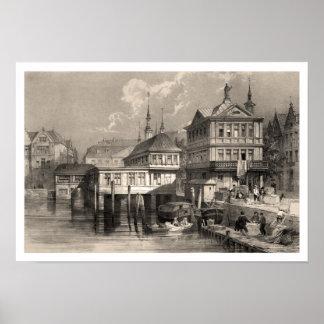 Hamburgo, en 1838 póster