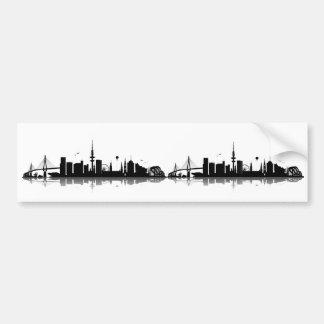 Hamburgo horizonte pegatina etiqueta de parachoque