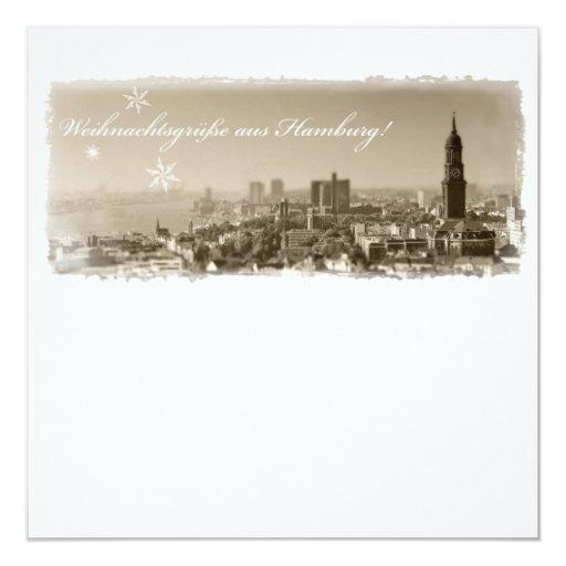 Hamburgo Michel, Weihnachtsgrüße de Hamburgo Tarje Invitación 13,3 Cm X 13,3cm