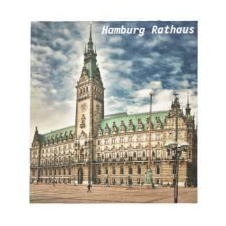 Hamburgo Rathaus, Alemania Bloc De Notas