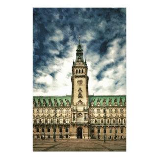 Hamburgo Rathaus, Alemania Papeleria De Diseño