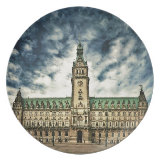 Hamburgo Rathaus, Alemania Platos De Comidas