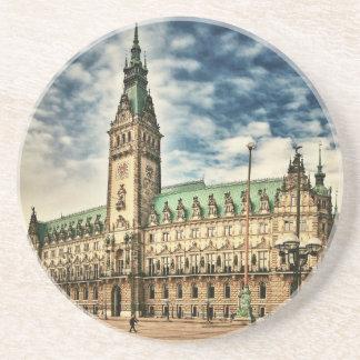 Hamburgo Rathaus, Alemania Posavasos De Arenisca
