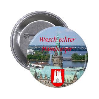 Hamburgo Townhall Pin Redondo 5 Cm