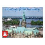 Hamburgo Townhall Tarjeta Postal