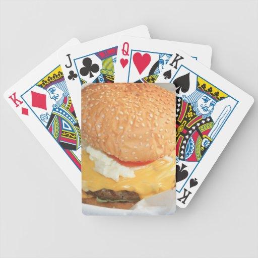 Hamburguesa Baraja Cartas De Poker