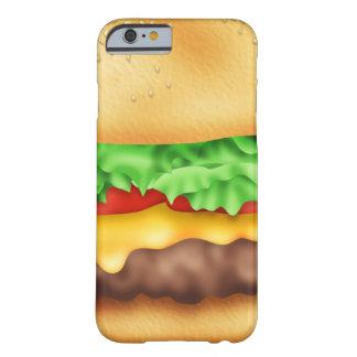 ¡Hamburguesa con la porción! Funda De iPhone 6 Barely There