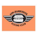 Hamburguesa de 100 dólares - club del vuelo tarjetas postales