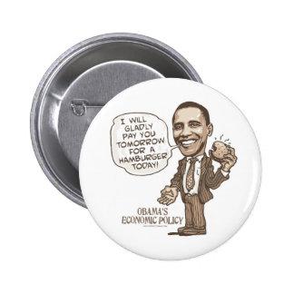 Hamburguesa de Barack que come el engranaje de Ant Pin Redondo 5 Cm
