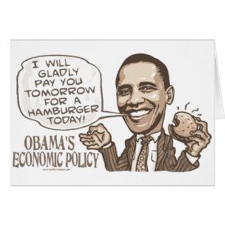 Hamburguesa de Barack que come el engranaje de Ant Tarjetón
