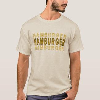 Hamburguesa de la tipografía playera