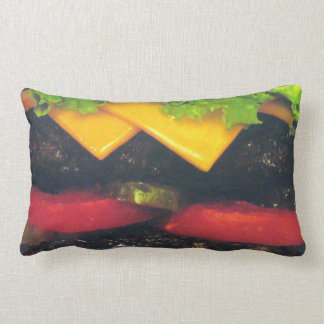 Hamburguesa de lujo doble con queso almohadas
