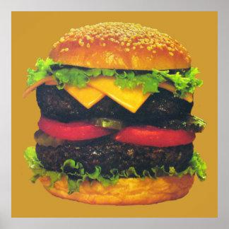 Hamburguesa de lujo doble con queso poster