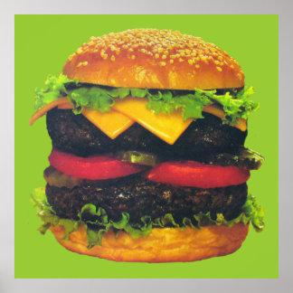 Hamburguesa de lujo doble con queso póster
