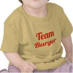 Hamburguesa del equipo camiseta
